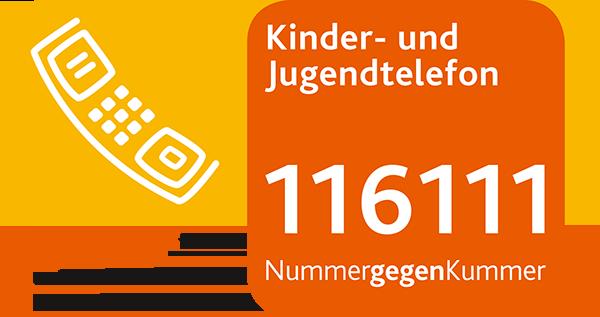 Logo Kinder- und Jugendtelefon 116111 Nummer gegen Kummer